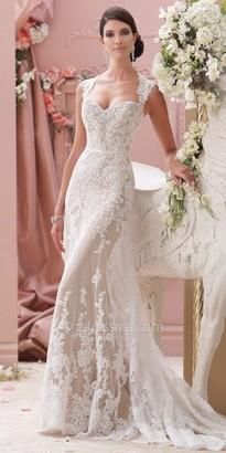 David Tutera for Mon Cheri Bridal Lourdes $1,573 thestylecure.com