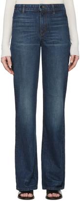 Helmut Lang Indigo No Pocket Jeans $320 thestylecure.com