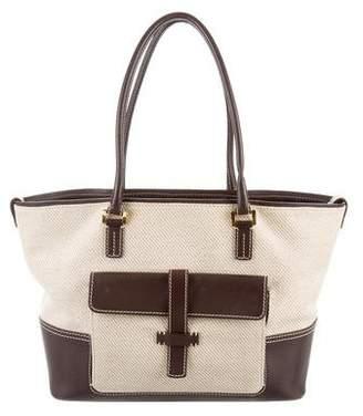 Loro Piana Leather-Trimmed Medium Globe Bag