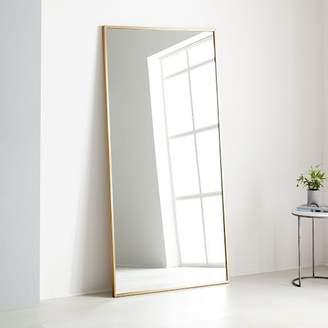 "west elm Metal Frame 78"" Floor Mirror - Antique Brass"