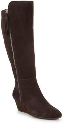 Anne Klein Alanna Wide Calf Wedge Boot - Women's