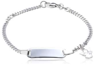 Angel Heart Xaana AMZ0188 Child's Bracelet 925 Rhodium-Plated Sterling Silver with Sparkling Design 14 cm