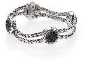 John Hardy Kali Black Sapphire& Sterling Silver Four-Station Bracelet