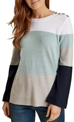 Barbour Lorne Color-Blocked Knit Sweater
