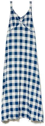 R 13 Gingham Long Slip Dress