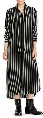 Polo Ralph Lauren Long-Sleeves Striped Silk Dress