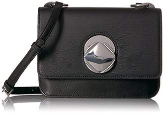Calvin Klein Reese Mercury Structured Flap Crossbody