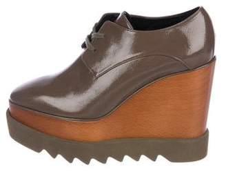 Stella McCartney Patent Leather Platform Oxfords