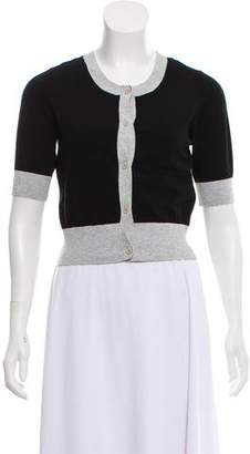 Theory Short Sleeve Bicolor Cardigan w/ Tags