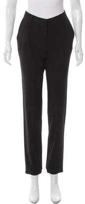 Halston Mid-Rise Straight-Leg Pants