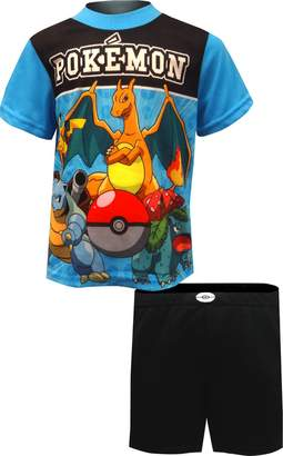 AME Sleepwear Pokemon Pikachu and Friends Ready for Battle Pajamas for Big Boys
