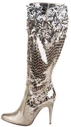 Rene Caovilla Embellished Knee-High Boots