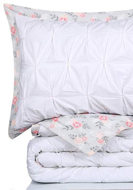 NMK King Pintuck Comforter Set