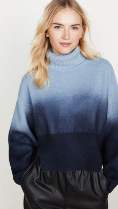 Cédric Charlier Blue Long Sleeve Cropped Turtleneck