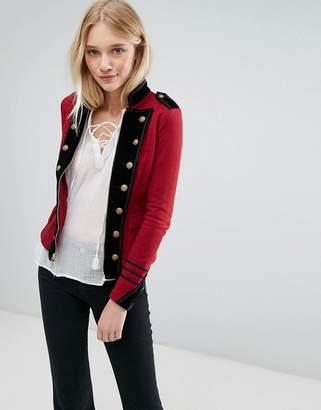 Denim & Supply By Ralph Lauren Military Jersey Jacket With Zip