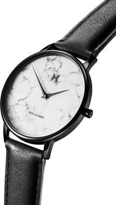 MVMT Boulevard Leather Strap Watch, 38mm