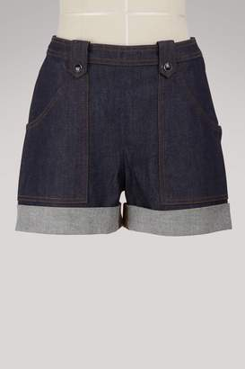 Vanessa Seward Fan denim shorts