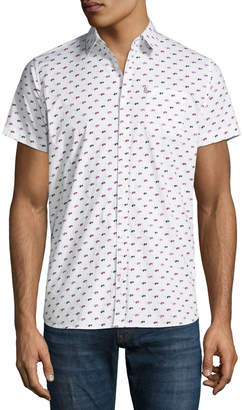 Noize Amstrdm Sunglasses-Pattern Short-Sleeve Button Front Shirt