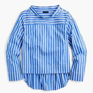 J.Crew Funnelneck striped shirt