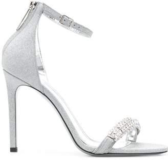 a9cd428a396 Calvin Klein high heel glitter sandals