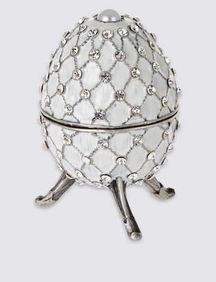 Marks and Spencer Gustavs Egg Diamante Encrusted Trinket Box