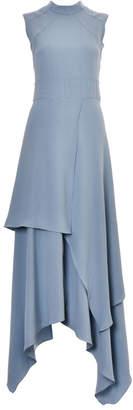 Lilly Sarti Crepe Asymmetrical Dress