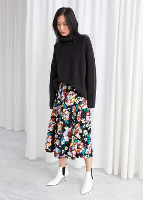And other stories Colour Block Pleat Skirt