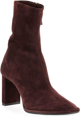 The Row Teatime Suede Zip Booties