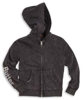 BUTTER Little Girl's & Girl's Snack Hoodie $75 thestylecure.com