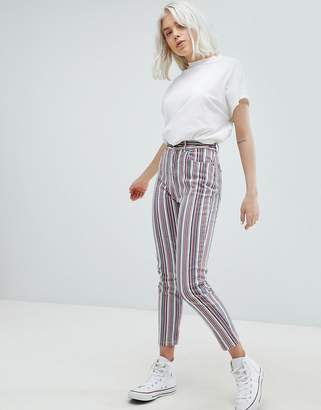 Pull&Bear Stripe Straight Leg Jeans