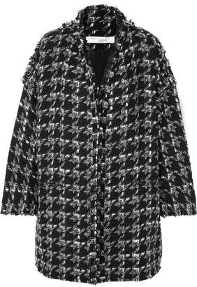 IRO Trouble Oversized Houndstooth Bouclé Coat - Black