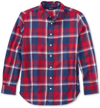 Polo Ralph Lauren Ralph Lauren Plaid Cotton Shirt, Big Girls