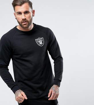Majestic Raiders Longline Raglan Sweatshirt Exclusive to ASOS