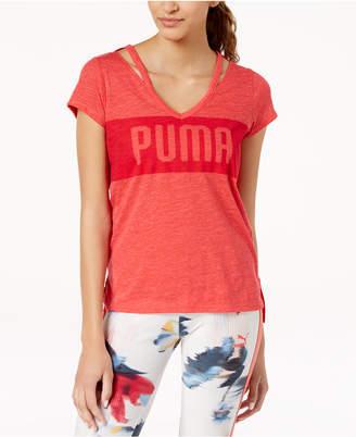 Puma Spark Strappy V-Neckline T-Shirt