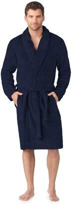 Cuddl Duds Men's Shawl-Collar Microfleece Robe
