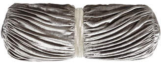 Sweet Dreams Platinum Posey Ruched Velvet Bolster Pillow