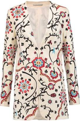 Alice + Olivia Chriselle Embroidered Cotton-Blend Twill Jacket