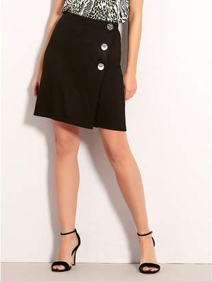 M&Co Petite button skirt