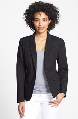 Women's Vince Camuto Stretch Cotton One-Button Blazer $150 thestylecure.com