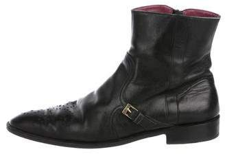 Valentino Pointed-Toe Leather Boots