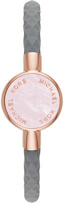 Michael Kors Access Women's Crosby Gray Silicone Slider Bracelet Activity Tracker 24mm MKA101001 $95 thestylecure.com