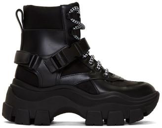 Prada Black Chunky Buckle Boots