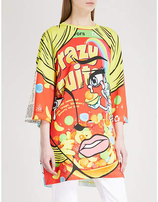 Moschino Logo-print cotton-jersey dress