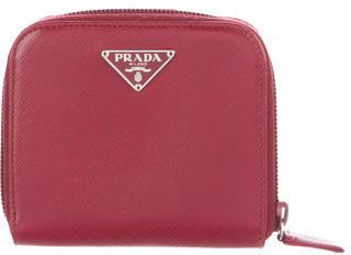 pradaPrada Saffiano Lux Compact Wallet