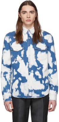 Burberry Indigo Denim T-Fit Slim Shirt