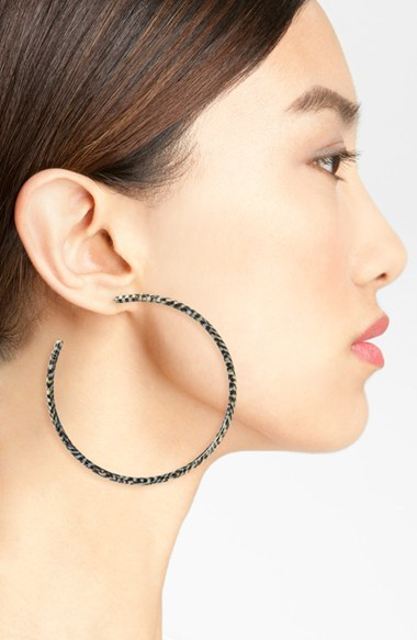 Women's L Erickson 'Jumbo' Hoop Earrings 4