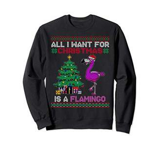 All I Want For Christmas Is A Flamingo Funny Xmas Sweater