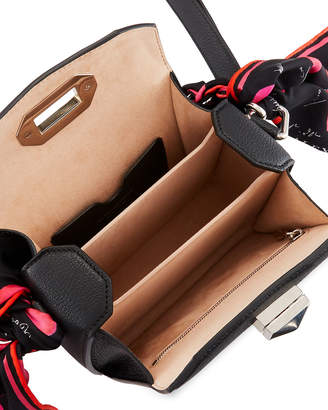 Alexander McQueen Box 16 Pebbled Silky Leather Crossbody Bag