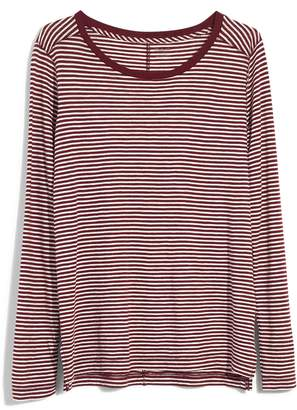 Madewell Penguin Stripe Whisper Cotton Long Sleeve Tee