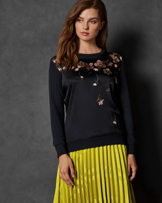 Ted Baker SOWFIEE Arboretum woven front cotton sweater